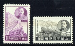 1961  Peking - Kalgan Railway  Sc 1316-7  No Gum, As Issued - 1945-... République De Chine