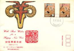1978  Year Of The Ram  Sc 2135-6 - 1945-... Republic Of China