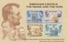 GAMBIA SHEET MNH LINCOLN PRESIDENTS - Célébrités