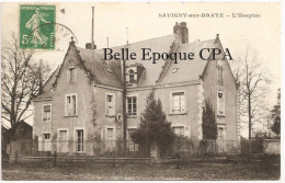 41 - SAVIGNY-sur-BRAYE - L'Hospice ++++++ Briant, édit., Savigny ++++ 1908 +++++ RARE - France