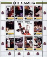 GAMBIA SHEET POPE JOHN PAUL JEAN PAUL JUAN PABLO POPE POPES PAPA PAPAS RELIGION - Papi
