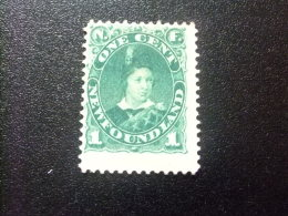 NEWFOUNDLAND TERRANOVA  TERRE NEUVE 1887 Principe De Gales  Prince De Galles Yvert Nº 40 * MH - Newfoundland