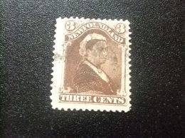 NEWFOUNDLAND TERRANOVA  TERRE NEUVE 1887 Reina Victoria Yvert Nº 42 º FU - Newfoundland