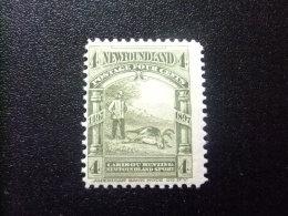 NEWFOUNDLAND TERRANOVA  TERRE NEUVE 1897  Caza Del Caribou Yvert Nº 51 * MH - Newfoundland