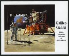 GAMBIA SHEET ESPACE SPACE GALILEO GALILEI COSMONAUTS ASTRONAUTES SPACECRAFT - Unclassified