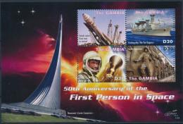 GAMBIA SHEET ESPACE SPACE JOHN GLENN COSMONAUTS ASTRONAUTES SHIPS