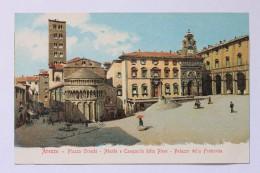 Arezzo - Piazza Grande - Abside E Campanile Della Pieve - Palazzo Della Fraternita, Italia Italy - Arezzo