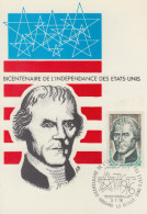 Carte Maximum  1er   Jour   ANDORRE    Bicentenaire  Des   U.S.A    1976 - Indépendance USA