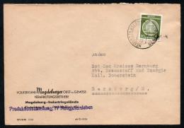 3016 - Alter Beleg - Dienstpost Dienstmarke Neugattersleben Bernburg 1956 ? - DDR