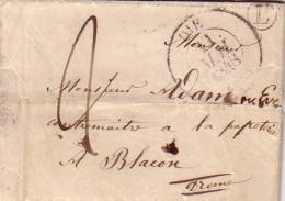 DROME - DIE - T13 DU 11-5-1848 - BOITE RURALE L DE ST JULIEN EN QUINT - TAXE MANUSCRITE 2 - AVEC TEXTE. - 1701-1800: Precursori XVIII