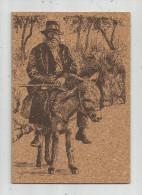 G-I-E , Cp , Peinture Sur Liége Inaltérable , La CORSE , Le VIEUX Et Son ÂNE , N° 28 , Vierge - Cartes Postales