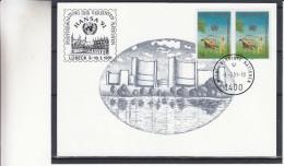 Nations Unies - ONU - Vienne - Carte Postale De 1991 - Oblitération Wien - Exposition Hansa 91 à Lübeck - Centre International De Vienne