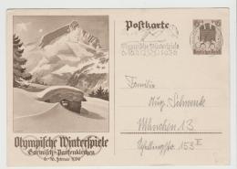 OYW36 / P257 Mit Maschinenstempel, Werbung Für Garmisch Mit Skispringer - Allemagne
