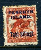 Penrhyn 1903 New Zealand Overprints - 1/- Kea And Kaka - Brown Red - Used (SG 16) - Penrhyn