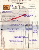 29 - DOUARNENEZ - FACTURE BISCUITERIE DE BRETAGNE - PETIT BEURRE- GAUFRETTES-1948 - France