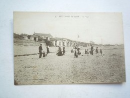59 PETIT FORT PHILIPPE LA PLAGE 1922 CIRCULEE DOS DIVISE VERT   BON ETAT COLORISEEN° 5