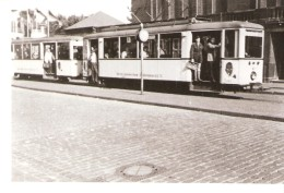 Photo Originale-Foto Tram Strassenbahn Tramway-Linie-8-Bochum-Gelsenkirchen-Strassenbahnen-Pub.Juno  A.6 712 - Trains