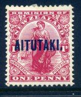 Aitutaki 1917-20 New Zealand Overprints - KGV Typo. - 1d Dominion LHM (SG 20) - Aitutaki