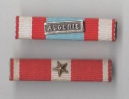 BARRETTE RAPPEL DE DOCORATION FRANCAISE , Agrafe Algérie , étoile - Unclassified