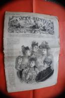 DIM 2 Avril 1893 LA MODE ILLUSTREE JOURNAL DE LA FAMILLE GRAVURE´S LOISIRS CREATIFS-MODE-FASHION-HABITS-COUTURE-MODELES - Creative Hobbies