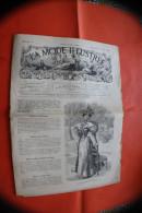 DIM 1er Mars 1896 LA MODE ILLUSTREE JOURNAL DE LA FAMILLE GRAVURE´S LOISIRS CREATIFS-MODE-FASHION-HABITS-COUTURE-MODELES - Other
