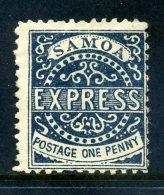 Samoa 1877-80 Express - 1d Deep Blue MNG - Assumed Reprint / Remainder - Samoa