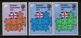 EUROPEAN IDEAS 1973 GB MI 612-14 GREAT BRITAIN ** - Idee Europee