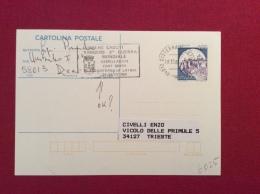CISTERNA DI LATINA  1984 CARTOLINA POSTALE  CON ANNULLO SPECIALE RESISTENZA  CADUTI RANGERS GEMELLAGGIO CON FORT SMITH - Eventi