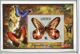 (cl.37 - P.10) Liberia **  Bloc N° 72 - Papillons - - Butterflies