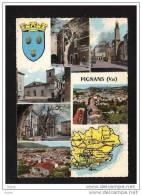 83  PIGNANS Carte Multi Vues  ...1 - Unclassified