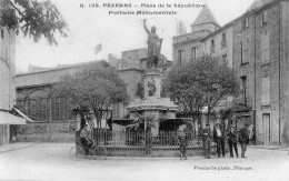 PEZENAS PLACE DE LA REPUBLIQUE FONTAINE MONUMENTALE - La Salvetat