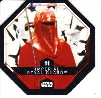STAR WARS 2015 Vignette Jeton Image Carte LECLERC Disney Numéro 11 IMPERIAL ROYAL GUARD - Episode I