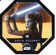 STAR WARS 2015 Vignette Jeton Image Carte LECLERC Disney Numéro 15 AAYLA SECURA - Episode I