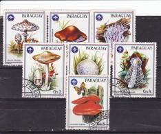 PARAGUAY - N°Y&T - Série 2144/50 - Les 7 Valeurs -  Champignons   - Oblit - Paraguay