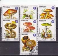 PARAGUAY - N°Y&T - Série 2207/13 - Les 7 Valeurs -  Champignons   - Oblit - Paraguay