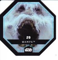 STAR WARS 2015 Vignette Jeton Image Carte LECLERC Disney Numéro 29 WAMPA - Episode I