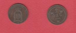 Suede      --  2 Ore 1888   -- Km # 746 --   état  TTB - Suède
