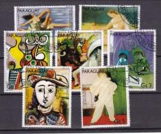 PARAGUAY - N°Y&T - Série 1878/83 - Les 7 Valeurs -  Tableaux De Picasso  - Oblit - Paraguay