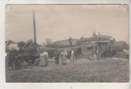 Carte Photo - Travaux Des Champs - Tracteur ; Moissonneuse - Tractors
