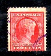 W792 - STATI UNITI 1909 , 2 Cent Unificato N. 231 Usato - Used Stamps