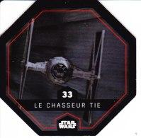 STAR WARS 2015 Vignette Jeton Image Carte LECLERC Disney Numéro 33 LE CHASSEUR TIE - Episode I