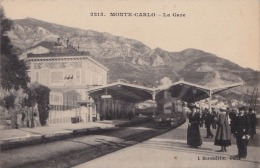 MONTE CARLO  (MONACO)  LA  GARE  - (ANIMEE - TRAIN VAPEUR) - Casino