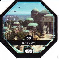 STAR WARS 2015 Vignette Jeton Image Carte LECLERC Disney Numéro 39 NABOO - Episode I