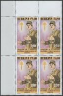 BURKINA: N°829 ** En Bloc De 4 CdF     - Cote 8,80€ -  (DE GAULLE) - Burkina Faso (1984-...)