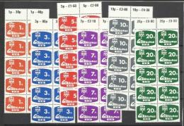 1976 Gibilterra Gibraltar SEGNATASSE POSTAGE DUE 10 Serie Di 6v. (7/12) MNH** - Gibilterra