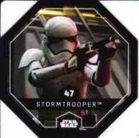 STAR WARS 2015 Vignette Jeton Image Carte LECLERC Disney Numéro 47 STORMTROOPER - Episode I