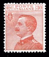 REGNO 1922 Michetti C.30 Sassone 127 Effige Di V.E.III MNH ** Integro Perfetto - 1900-44 Vittorio Emanuele III