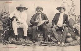 "1904 , TARJETA POSTAL FRANCESA CIRCULADA , TEMA PESCA "" JALOUSIE "" A. BERGERET - Pesca"