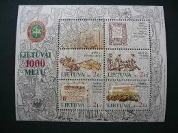 Lietuva Litauen Lituanie Litouwen Lithuania 2005 MNH # Mi. 876/9 Block 31 Millenium Of Lithuania. - Lituania