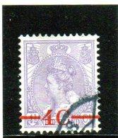 1921 Paesi Bassi - Regina Guglielmina - Soprastampato - Oblitérés
